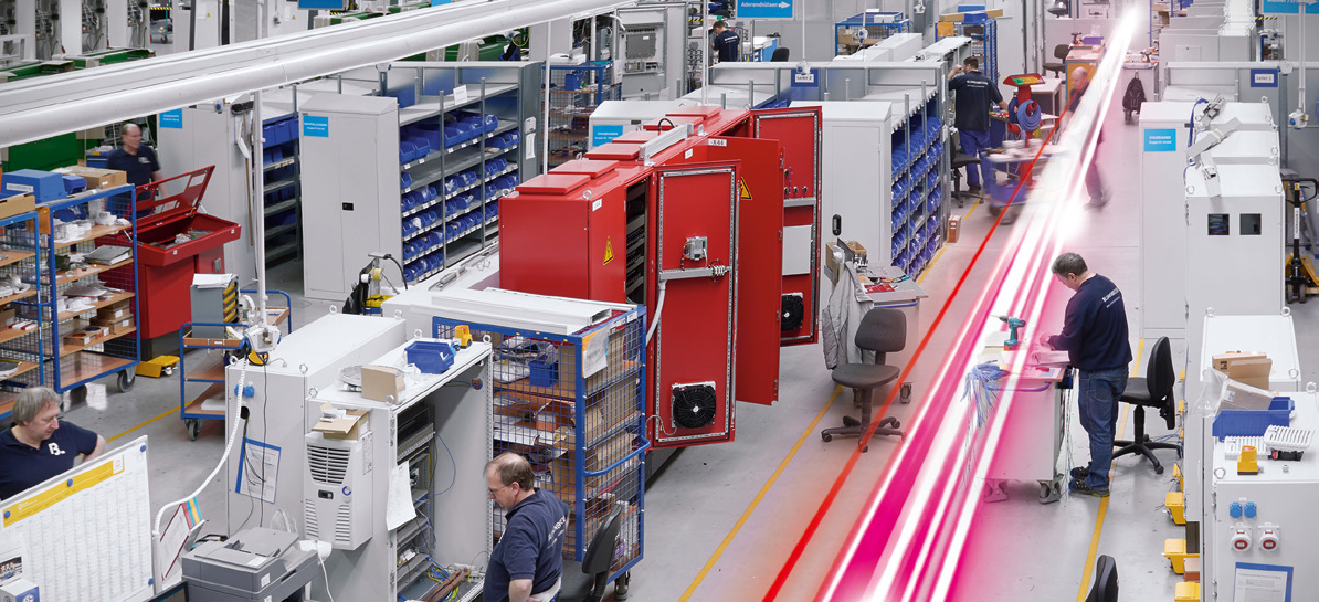 shop floor for panel building and switchgear manufacturing with rittal and eplan